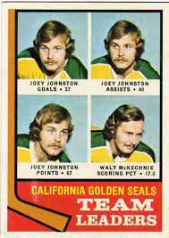 Joey Johnston Hockey Card